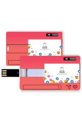 Stylish Instagram Themed Plastic Credit Card Pen Drive