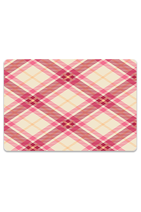 Exclusive Pink Fabric Check Leminated Table Mat