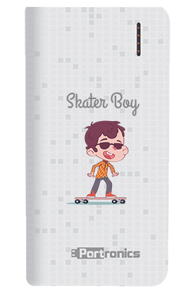 Surfing on Road Customized 8000mAh Portronics Power Bank White