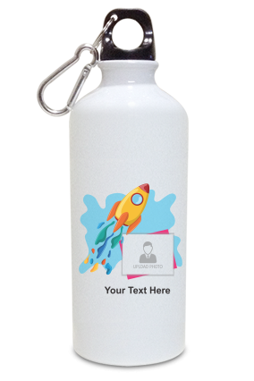 Rocket to Space Personalized Kids White Color Sipper