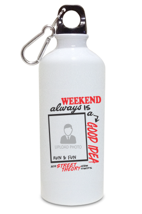 Weekend is Good Personalized Kids White Color Sipper