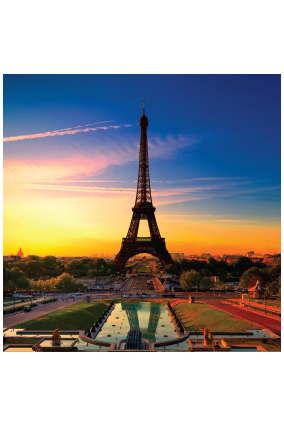 Eiffel Tower Square Canvas Print