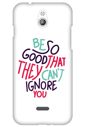 Transparent Silicon - Be So Good InFocus M2 Mobile Cover