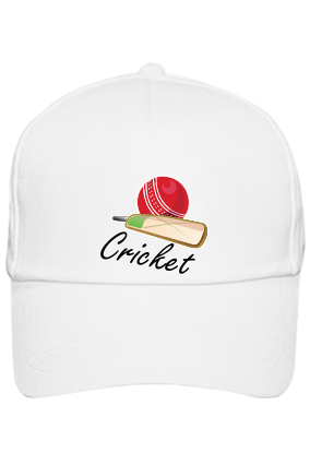 Cricket Player White Cap with Logo