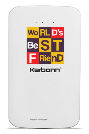 Love My Friend 10000mAh Karbonn Power Bank