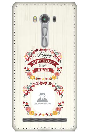 3D - Asus Zenfone 2 Laser ZE550KL Happy Birthday Dear Mobile Cover