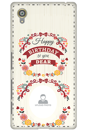 Customize 3D-Sony Xperia X Happy Birthday Dear Mobile Cover
