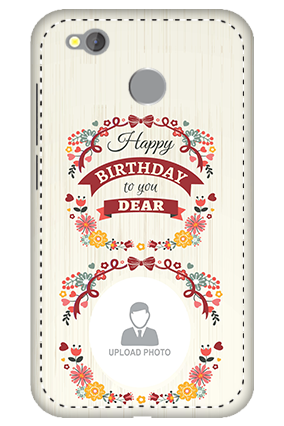 3D -  Redmi 4 Happy Birthday Dear Mobile Cover
