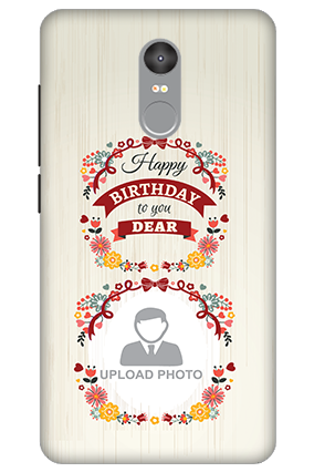 3D - Xiaomi Redmi Note 4 Happy Birthday Dear Mobile Cover