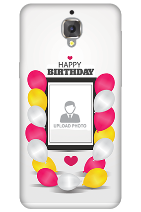 3D - OnePlus 3T Birthday Greetings Mobile Cover