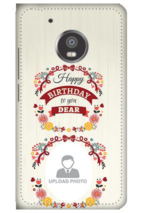3D - Moto G5 Plus Happy Birthday Dear Mobile Cover
