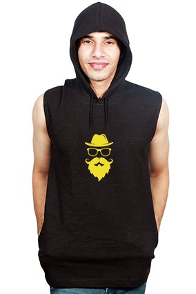 Breaking Had Round Neck Without Sleeve With Side Pocket Black Hoodie