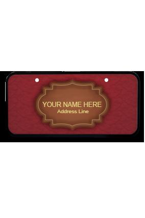 Elegance Maroon Wooden Name Plate