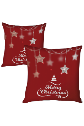 Hanging Stars Merry Christmas Cushion Cover