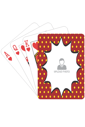 Yellow Dots on Red Playing Cards