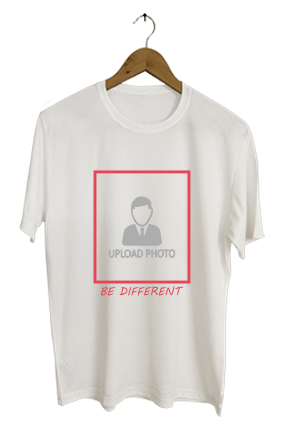 Be Different Personalized  Round Neck Dri-fit White T-shirt