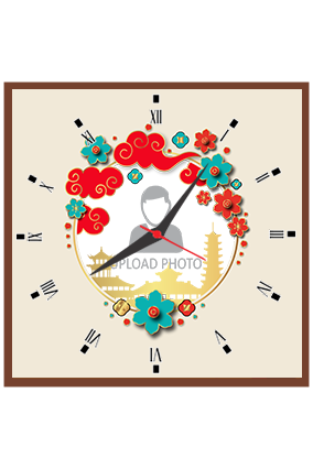 Photo in Heart 2020 New Year Square Clock