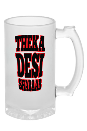 Custom Desi Sharab Frosted Beer Mug
