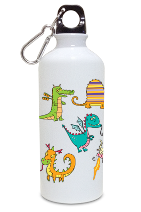 Artistic 600ml White Sipper