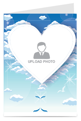 Custom Sky Heights Valentine Day Greeting Card