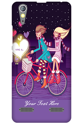 Personalised Lenovo A6000 Ride Valentine's Day Mobile Cover