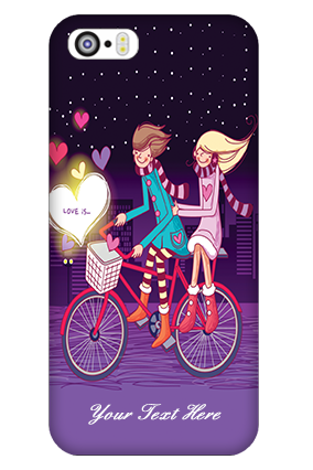 Custom iPhone 5 Ride Valentine's Day Mobile Cover