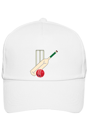 Bat And Ball White Cap