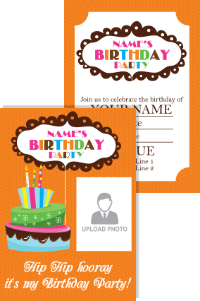 Great Birthday Invitation Card