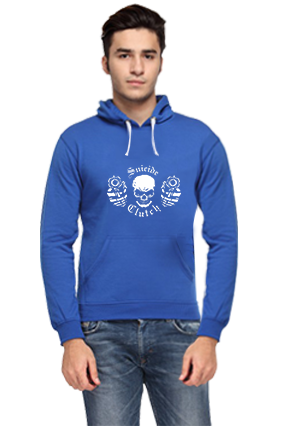 Business Suicide Theme Full Sleeves Royal Blue Hoodie