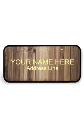 Custom Designer Brown Wooden Nameplate