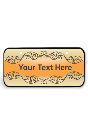 Abstract Wooden Nameplate