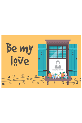 Be My Love Personalized Valentine Landscape Poster