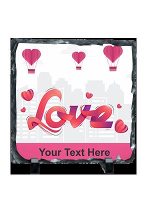 Love In The Air Valentine Square Photo Rock