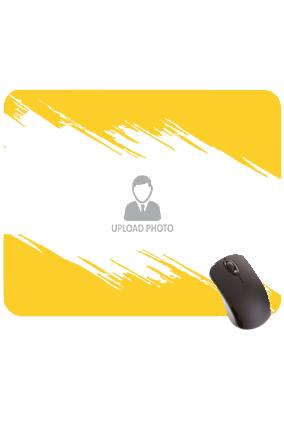 Yellow Paint Rectangular Mouse Pad