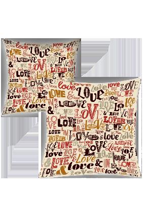 Designer Love Printed Cushion Cover