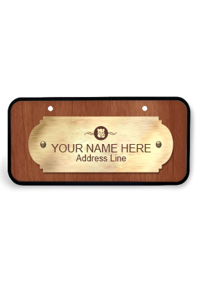 Exquisite Sheen Wooden Name Plate