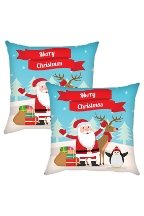 Greetings Christmas Cushion Cover