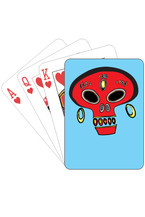 Fancy Skull Playing Cards