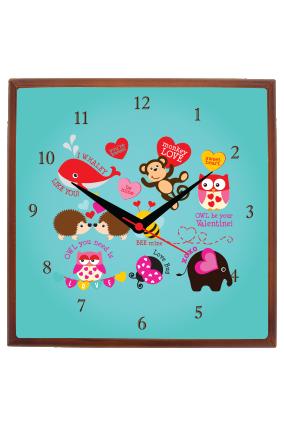 Children Square Wall Clock