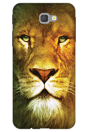 3D - Samsung Galaxy J7 Prime Lion Face Mobile Cover