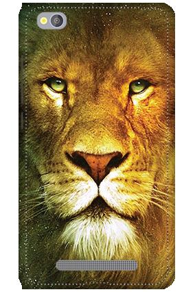 3D - Xiaomi Redmi 4A Lion Face Mobile Cover