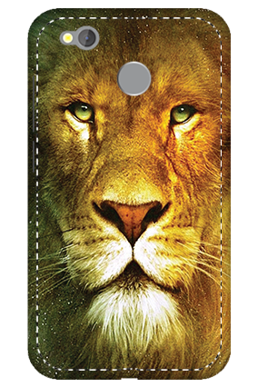 3D -  Redmi 4 Lion Face Mobile Cover