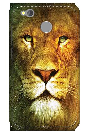 3D -  Redmi 4 Lion Face Mobile Cover
