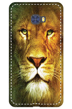 3D -  Samsung Galaxy C7 Pro Lion Face Mobile Cover
