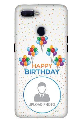 3D-Oppo F9 Happy Birthday Mobile Cover