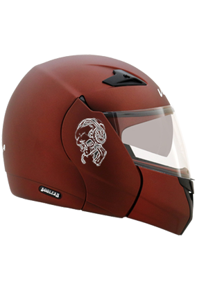 Skull Loves Music Vega Boolean Dull Burgundy Helmet