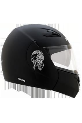 Skull Loves Music Vega Boolean Dull Black Helmet