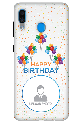 3D-Samsung Galaxy A30 Birthday Greetings Mobile Covers