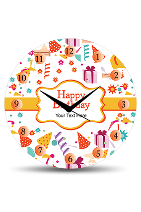 Birthday Wishes Wall Clock