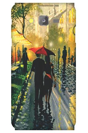 Silicon-Samsung Galaxy J5 Romantic Walk Mobile Cover